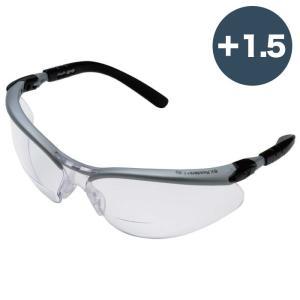 3M スリーエム BX(TM) ルーペ付き保護めがね(度数+1.5・+2.0)11374 11375 老眼用 リーディンググラス|midorianzen-com