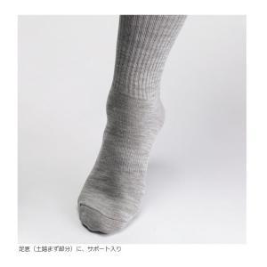 ミドリ安全 ベルデソックス eks 先丸 グレー M/L 靴下 消臭 吸湿発熱 防寒|midorianzen-com|03