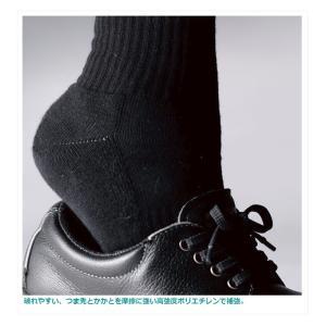 ミドリ安全 ハードタイプ靴下 ブラック M〜LL 作業用 耐久性 耐摩耗|midorianzen-com|02