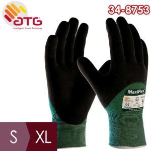 ATG 耐切創性精密作業手袋 MaxiFlex Cut 34-8753 S〜XL ニトリル 3/4コーティング|midorianzen-com