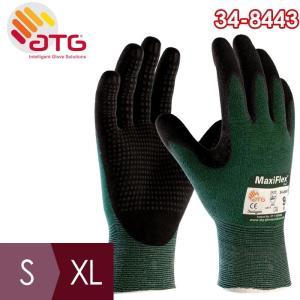 ATG 耐切創性精密作業手袋 MaxiFlex Cut 34-8443 S〜XL ニトリル 手のひらコーティング|midorianzen-com