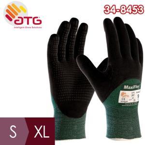 ATG 耐切創性精密作業手袋 MaxiFlex Cut 34-8453 S〜XL ニトリル 3/4コーティング|midorianzen-com