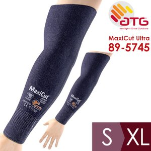 ATG 耐切創性作業腕カバー MaxiCut Ultra 89-5745 S/XL 腕保護用 EN388カットレベル4 45.5cm|midorianzen-com