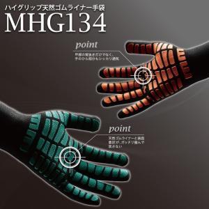 作業手袋 ハイグリップ MHG-134 グリーン オレンジ S〜L 背抜き手袋 ミドリ安全 現場|midorianzen-com