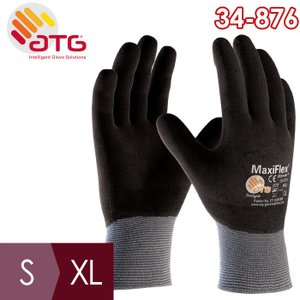 ATG 通気精密作業手袋 MaxiFlex Ultimate 34-876 S〜XL ニトリル 全周コーティング 耐摩耗|midorianzen-com