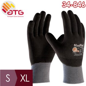 ATG グリップ強化精密手袋 MaxiFlexEndurance 34-846 S〜XL 作業用 全周コーティング 耐摩耗|midorianzen-com
