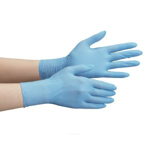 ミドリ安全 ニトリル手袋 ベルテ 710N (薄手) 粉なし ブルー SS (100枚入)|midorianzen-com