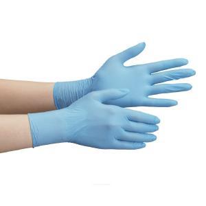 ミドリ安全 ニトリル手袋 ベルテ 710N (薄手) 粉なし ブルー M (100枚入)|midorianzen-com