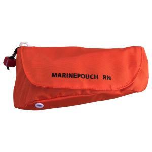 RFDJapan 救命浮輪 マリンポーチ RN型 膨張式 横型 オレンジ ポシェットタイプ 台風 水...