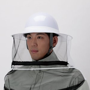ハチ防護ネット ファスナー付 フリーサイズ スズメバチ 蜂の巣駆除 防護服|midorianzen-com|02
