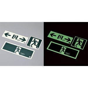 中輝度蓄光避難口標識 TSN805 120mm角 068031|midorianzen-com|02