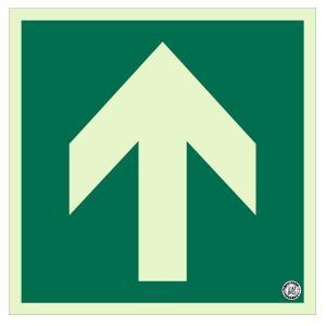 ユニット 避難口・通路誘導標識 矢印 829-11A 床面貼用|midorianzen-com