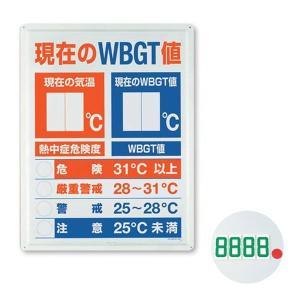 熱中症予防強化月間 熱中対策 WBGT値表示板 HO-198 現場|midorianzen-com