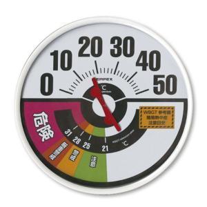 熱中症予防強化月間 熱中対策 防雨型温度・WBGT値計 HO-237 熱中 温湿度計 アナログ 壁 現場|midorianzen-com