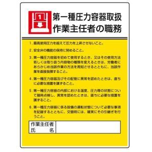 ユニット 作業主任者職務板 808-07 第一種圧力容器取扱…|midorianzen-com