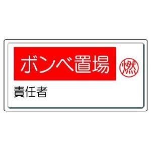 ユニット 高圧ガス標識 827-21 ボンベ置場・燃 責任者|midorianzen-com
