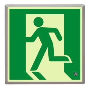 高輝度蓄光式誘導標識 避難口 壁用 ルミット(樹脂フレーム付) 836-02|midorianzen-com