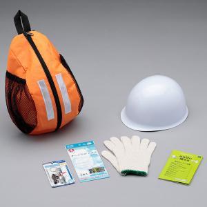ヘルメットインワンショルダーバックセット 1−02 防災グッズ 防災セット 防災用品 非常用持ち出し袋セット 避難用品|midorianzen-com