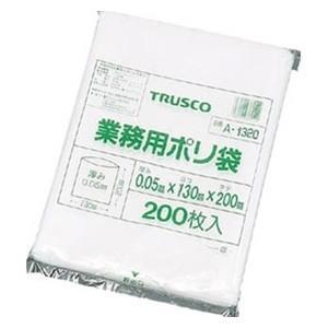 TRUSCO トラスコ中山 ポリ袋(200枚入)0.05厚 A1320 8539|midorianzen-com