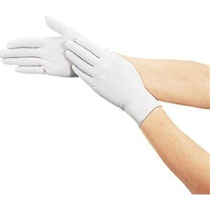 TRUSCO トラスコ中山 使い捨て極薄手袋ニトリル製粉付き100枚入Sホワイト DPM6981NS 8539 midorianzen-com