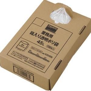 TRUSCO トラスコ中山  業務用箱入り透明ポリ袋 45L 100枚入り X0045N 8539