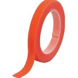 TRUSCO トラスコ中山 マジックバンド結束テープ 両面 オレンジ 10mm×1.5m MKT10...