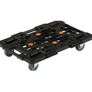 TRUSCO トラスコ中山 樹脂製平台車ルートバン自在側S付515x385黒メッシュタイプ MPK500SBK 8000|midorianzen-com