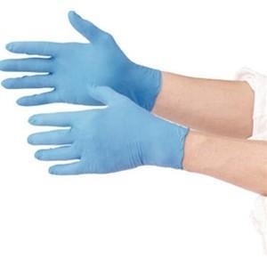 TRUSCO トラスコ中山 使い捨て極薄手袋ニトリル製粉付き100枚入Mブルー TGL725NM 8539 midorianzen-com