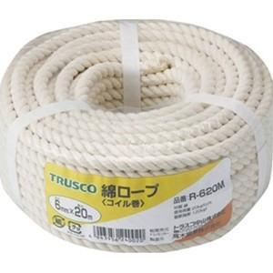 TRUSCO トラスコ中山 綿ロープコイル巻きφ12×20mコイル巻 R1220M 3100|midorianzen-com
