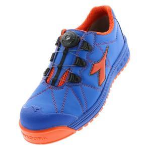 ディアドラ安全靴 フィンチ ブルー/オレンジ DIADORA スニーカー FC-474 ローカット Boaコラボモデル 作業靴 かっこいい|midorianzen-com