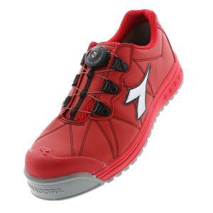 ディアドラ安全靴 フィンチ レッド/シルバー DIADORA スニーカー FC-383 ローカット Boaコラボモデル 作業靴 かっこいい|midorianzen-com