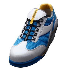 ディアドラ安全靴 ラジアナ RG-14 ホワイト/ブルー DIADORA RAGGIANA スニーカー 通気性 蒸れない ローカット かっこいい|midorianzen-com