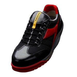 DIADORA ディアドラ 安全作業靴 ラジアナ RG-23 ブラック/レッド RAGGIANA ス...