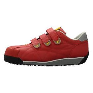 DIADORA ディアドラ 安全作業靴 アイビス レッド スニーカー IB-33 ローカット 作業靴...