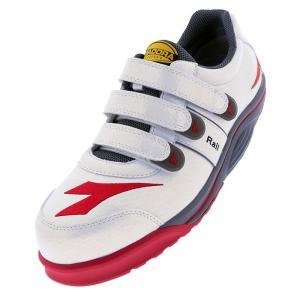 ディアドラ安全靴 レイル RA-11 ホワイト DIADORA RAIL スニーカー ローカット 作業靴 かっこいい|midorianzen-com