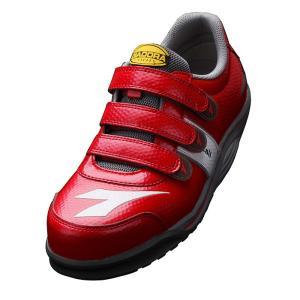 ディアドラ安全靴 レイル RA-33 レッド DIADORA RAIL スニーカー ローカット 作業靴 かっこいい|midorianzen-com
