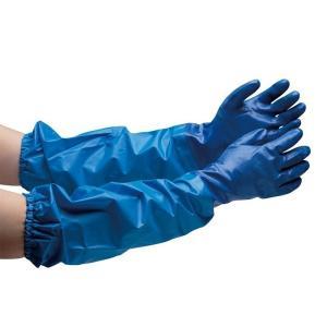 エステー ニトリル製ゴム手袋 腕カバー付 NO.660 M〜LL 個人向け 耐油 厚手タイプ 1双 業務用 作業用 現場 工場 事務 保護用品 midorianzen-com