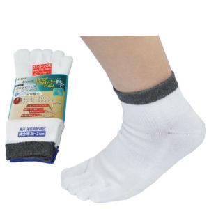 5本指靴下 ハーフソックス 男性用 白 FT-2101 2足組|midorianzen-com