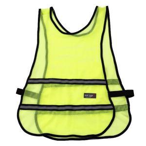 反射ビブス (反射ベスト) AG-801 蛍光イエロー 雨天 夜間 作業 高視認装備品|midorianzen-com