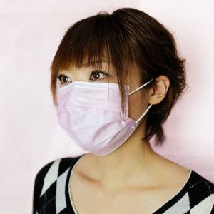 NTC ストレッチマスク プリーツタイプ ピンク (お得用50枚入) 花粉対策 清掃 作業用|midorianzen-com