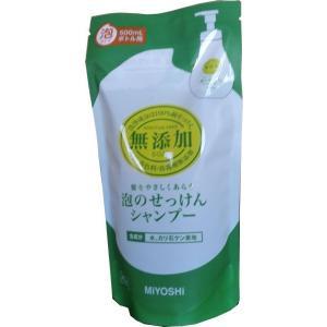 無添加 泡のせっけんシャンプー 詰替400ml   ミヨシ石鹸 midoriya-yshop