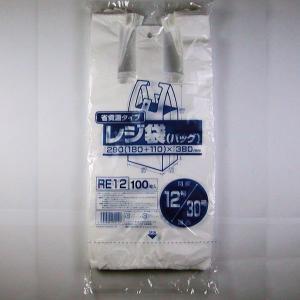 省資源タイプ  レジ袋(バック) ヨコ290(180+110)xタテ380mm RE12 100枚入...