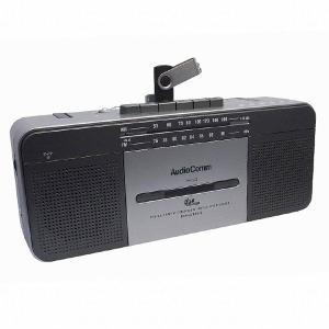 オーム電機 ラジカセ カセットテープ ラジオ AM FM ス...