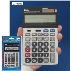 オーム電機 12桁電卓 ビジネス税計算機能付 KCL-004 (07-7985m) メール便送料無料|midoriya