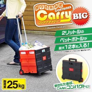 コンテナ キャリー カート 折りたたみ ショッピング 荷車 運搬 折りたたみ式コンテナキャリーBIG (im-0393) 送料無料