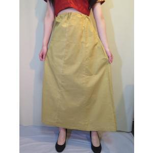 サリー用ペチコート 薄黄ベージュ インド綿 ムスリム イスラムファッション 民族衣装 ボリウッド ベリーダンス pet027|mifashion