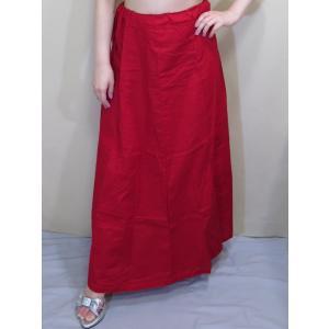 サリー用ペチコート 深紅 インド綿 ムスリム イスラムファッション 民族衣装 ボリウッド ベリーダンス pet028|mifashion