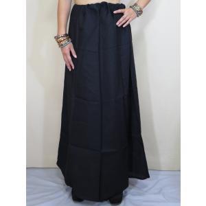 サリー用ペチコート 黒 ブラック インド綿 ムスリム イスラムファッション 民族衣装 ボリウッド ベリーダンス pet029|mifashion