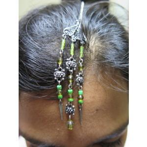 tik069 インド ティッカ ティカ ヘアアクセサリー 髪飾り★ボリウッド ベリーダンス エスニック|mifashion