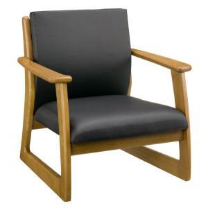 ラルゴ7672 チェアー 重厚感のある木の家具 ニレ無垢材 ソフトレザー|mifuji